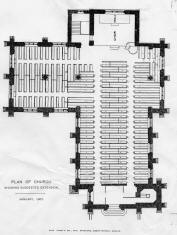 January 1907 - Plan of Church showing suggested extension