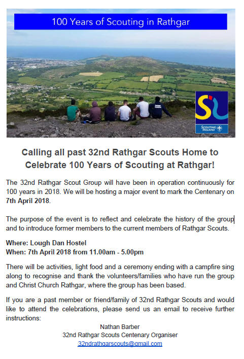 100 Years of Scouting in Rathgar - 32nd Rathgar Scouts